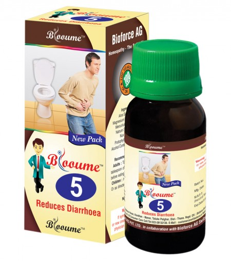 Blooume 5 BIORRHOEA drops, homeopathic medicine for diarrhea, watery stools, loose motions