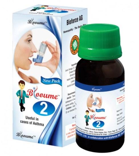 Buy Blooume 2- Asthmasan drops for bronchial asthma, allergic asthma