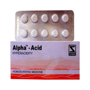 Schwabe Alpha Acid Tablets for Hyper acidity and heartburn associated with indigestion, flatulence, gastritis and gastric ulcer