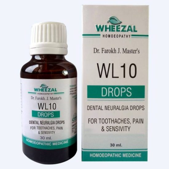 Wheezal WL 10 Dental Neuralgia Drops for Toothaches, Pain and Associated Sensitivity