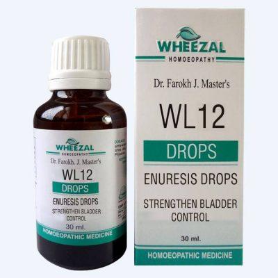 Wheezal WL 12 Enuresis Drops medicine for bed wetting, nocturnal enuresis