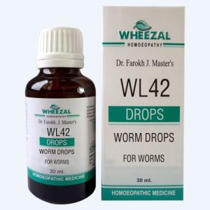Wheezal WL 42 Homeopathic Worm Drops for pin worms, tape worms, hook worms with Teucrium