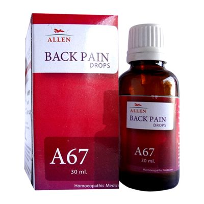 Allen A67 drops - Homeopathy medicine for back pain, Lumbago, shoulders pain
