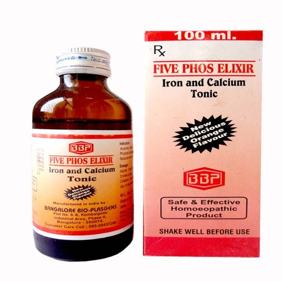 BBP Five Phos Elixir (Iron and Calcium Tonic) for Anemia