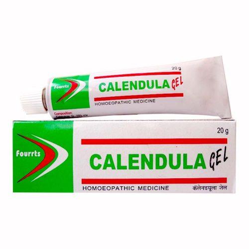 Fourrts Calendula Homeopathic Gel for Wounds, Cuts, Burns. Contains Calendula officinalis