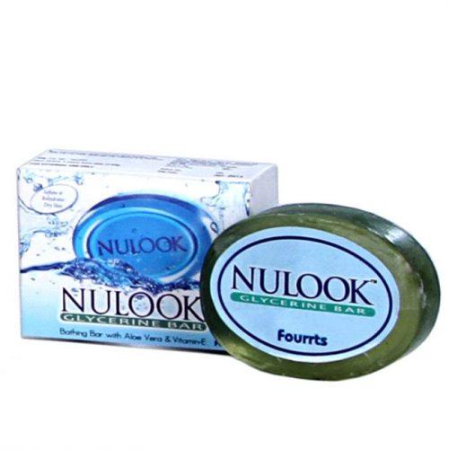 Fourrts Nulook Glycerine Bar Soap with Aloe Vera, Vit K