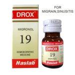 Haslab Drox-19 Migronol for Migrain, Sinusitis