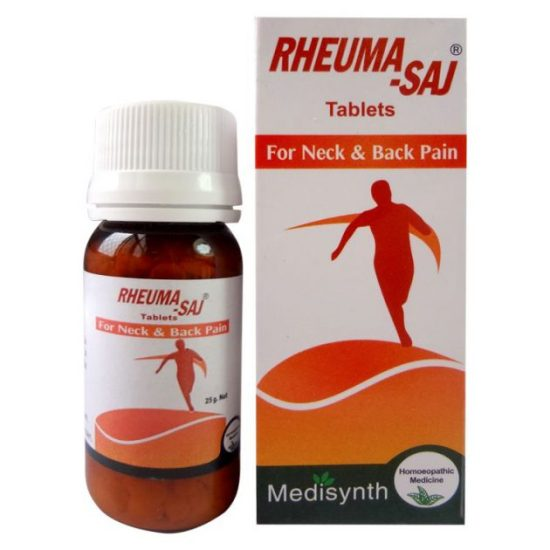 Medisynth Rheuma Saj homeopathic Tablets for neck and back pain