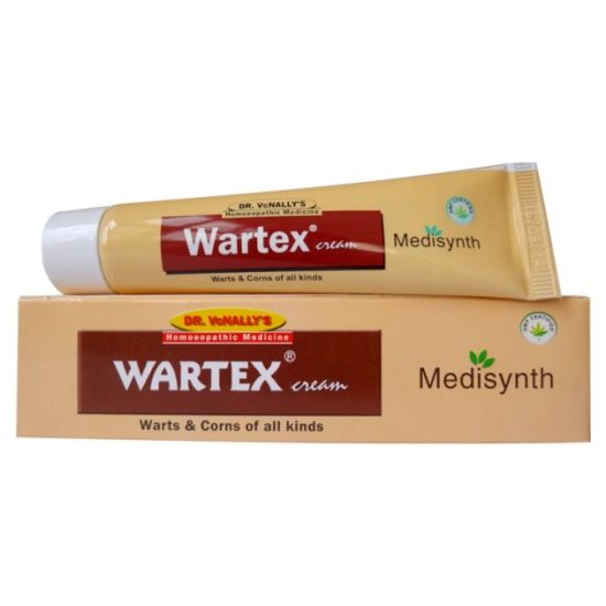 Medisynth Wartex Cream - Homeopathic medicine to treat all kinds of Warts, Corns, condylomata