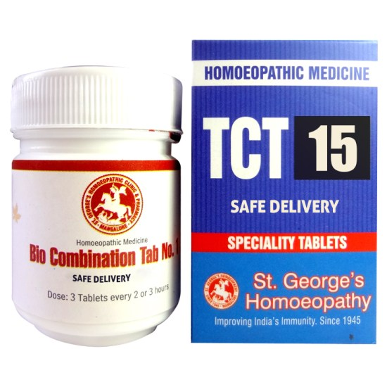 St George TCT 15 Homeopathic Tissue Complex Tablets for Safe Delivery