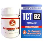 St George TCT 82 Homeopathic Tissue Complex Tablets for Toothache