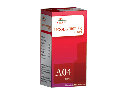 Allen A04 Homeopathy Drops for Blood Purifier, blood cleanser medicine,