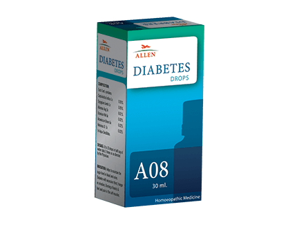 Allen A08 Homeopathic Drops for Diabetes