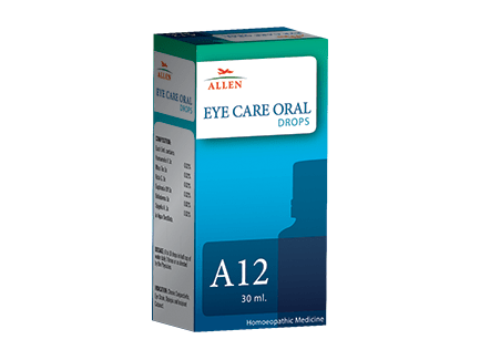 Allen A12 Eye Care (Oral drops) for Chronic Conjunctivitis, Eye Strain, Diplopia and Incipient Cataract