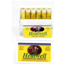 Healwell Homeopathic Travel Kit for Acidity, Cold, Colic,Cough, Diarrhea, Fatigue/tiredness, Fever, Food Poisoning, Headache, Indigestion, Injuries, Cuts & wounds, Insomnia / Sleeplessness, Motion sickness, Nausea & Vomiting, Sore throat