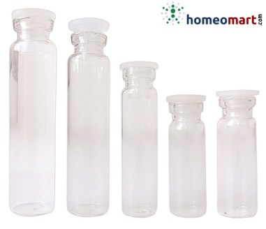 homeopathy packaging materials, Glass Bottle with Cork