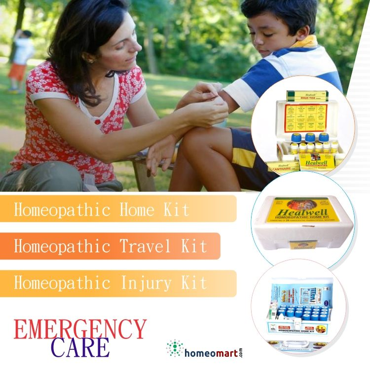 Homeopathic Home Kit, Homeopathic Travel Kit, Homeopathic Injury kit