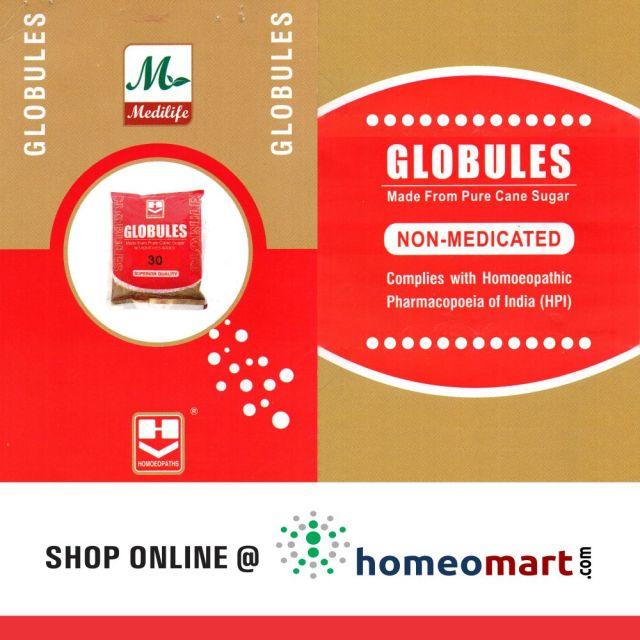 Homeopathy globules, pellets, pillules, or pills for medicine