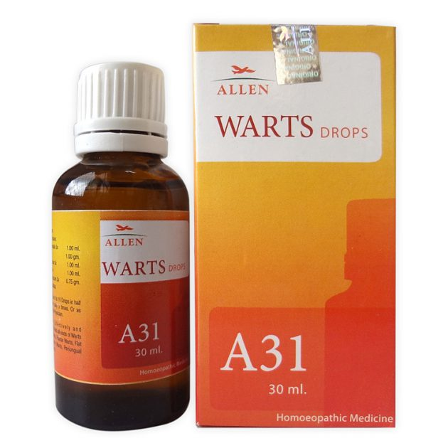Allen A31 Homeopathic Drops for all types of Warts and Corns