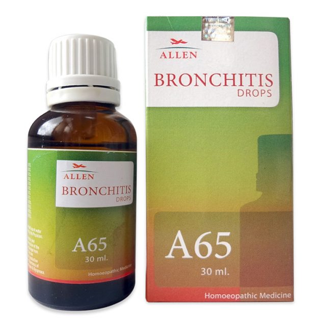 Allen A65 Homeopathic Drops for Bronchitis, Wheezing, Chest
