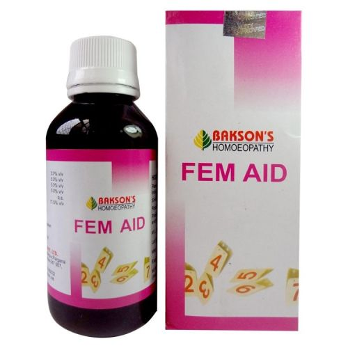 Bakson Fem Aid- Female health tonic for Leucorrhoea, Amenorrhoea, dsymenorrhoea, Menorrhagia, and metrorrhagia