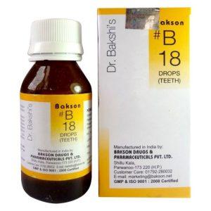 Dr.Bakshi B18 Teeth Homeopathy drops for delayed teething, Pyorrhoea