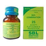 SBL Biocombination 25 (BC25) Tablets for Acidity, Flatulence, Indigestion, gastric disturbances, heartburn