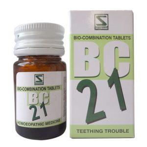Schwabe Biocombination BC21 Tablets for Teething Trouble, medicine for dentition trouble