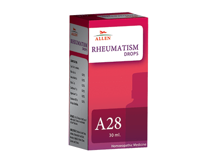 Allen A28 Rheumatism Drops for Rheumatic Ailments, arthritis, joint pains, muscular pain, Gout