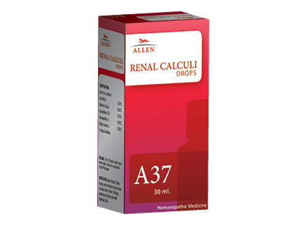 Allen A37 Homeopathy Drops for Renal Calculi (Kidney Stones)