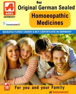 Adel Homeopathic medicines, Buy Adel 1 to 87 series of homeopathy medicines online. Original German Sealed Homeopathy
