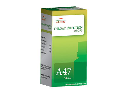 Allen A47 Homeopathy Drops for Throat Infection