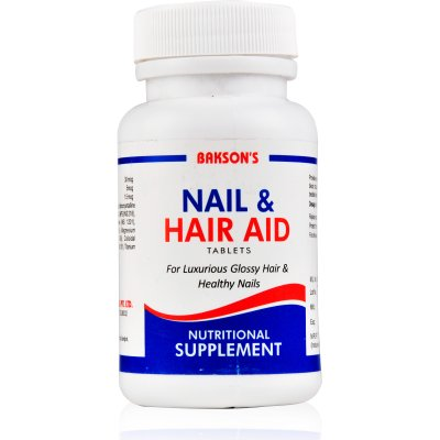 Baksons Nail And Hair Aid Tablets Homeopathy Nutrition