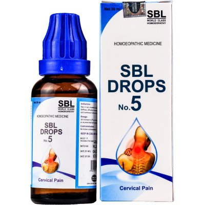 Homeopathy medicine for Cervical Pain, Neck Pain, Vertigo. SBL Drops No.5