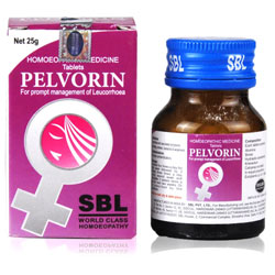 SBL Pelvorin Tablets, Homeopathy medicine for Leucorrhoea and its associated symptoms