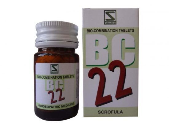 Schwabe Biocombination BC22 Scrofula Tablets, enlarged glands,Mycobacterial cervical lymphadenitis