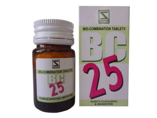 Schwabe Biocombination BC25 Tablets for Acidity, Flatulence and Indigestion