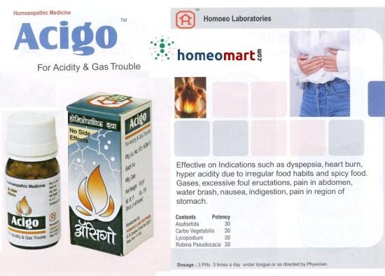 Acigo homeopathy medicine for acidity and gas trouble