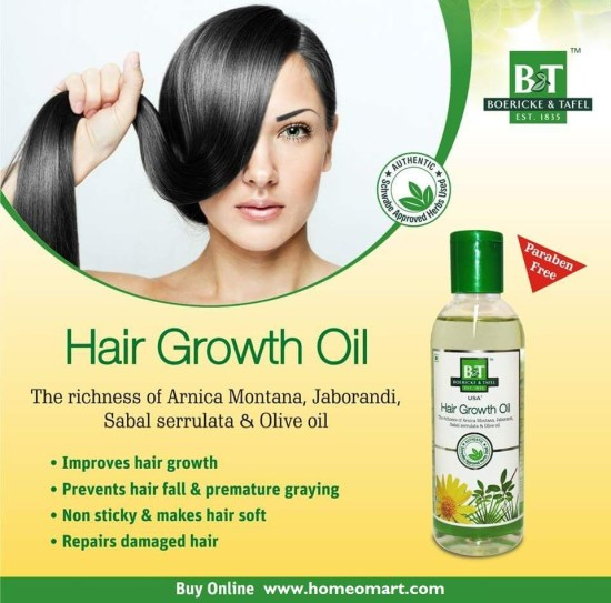 Schwabe B&T Hair Growth Oil with Arnica Montana, Jaborandi, Olive Oil