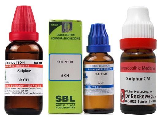 Sulphur 6C/30C/200C/1000C/10M/50M/CM Dilution, Reckeweg, Sbl