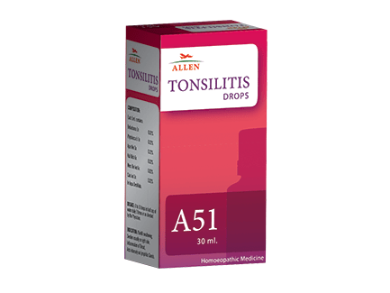 Allen A51 Tonsilitis Drops for Tonsils, Throat Infection
