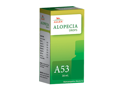 Allen A53 Alopecia Drops - Homeopathic Medicine for Baldness, Hair Loss