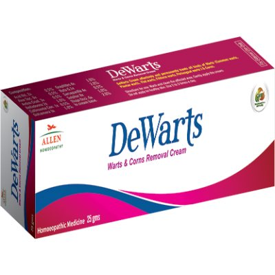 Allen homeopathy Dewarts Warts and Corns Removal Cream