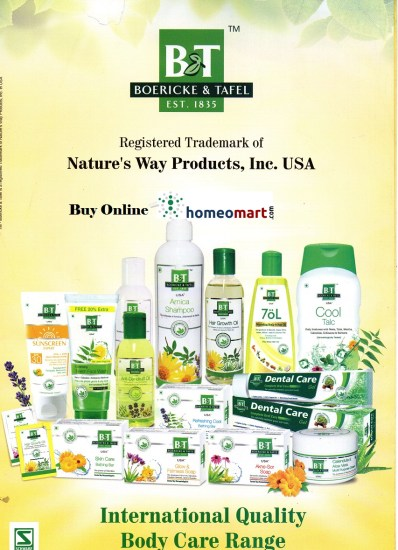 Homeopathy B&T Hair Care, Skin Care, Dental care products