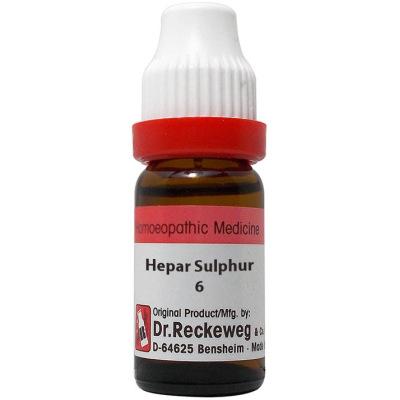 Dr Reckeweg Dilution Hepar Sulphur 6C, 30C, 200C, 1M, 10M, 50M, CM. 11ml