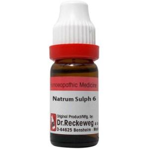Dr Reckeweg Dilution Natrum Sulphuricum 3X, 6C, 30C, 200C, 1M, 10M, 50M, CM. 11ml