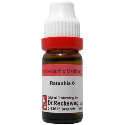 Dr Reckeweg Dilution Ratanhia 6C, 30C, 200C, 1M, 10M, 50M, CM. 11ml