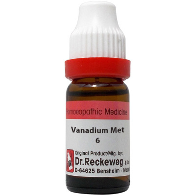 Dr Reckeweg Dilution Vanadium Metallicum 6C, 30C, 200C, 1M. 11ml