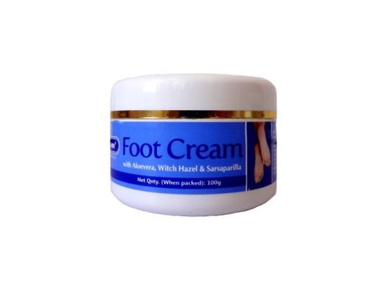 Sunny Bakson natural Foot Care Cream with Aloe vera, Witch hazel and Sarsaparilla