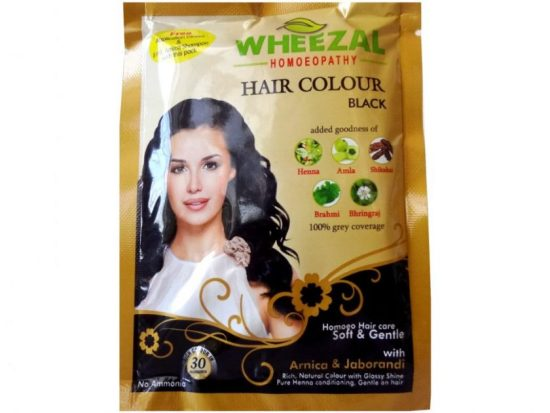 Wheezal Black Hair Color with Henna, Amla, Shikakai, Brahmi and Bhringraj